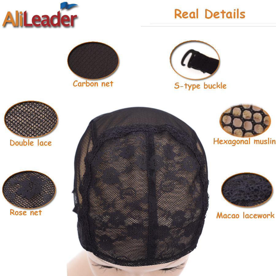 2pcslot Lace Wig Caps For Making Wigs Hair Weaving Cap Double
