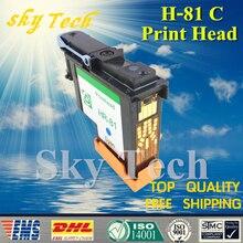 Một Mảnh Cyan Tái Sản Xuất Đầu In Cho HP81 C, Cho Máy In Khổ Lớn HP Designjet 5000 5500 máy in.