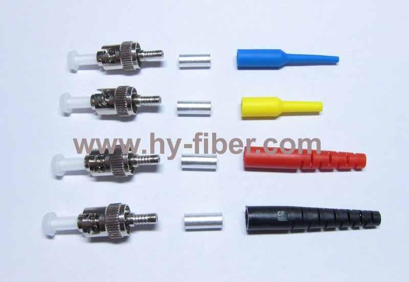 200 adet ST fiber optik konnektör kitleri SM Simplex PC, konut metal, önyükleme rengi siyah/kırmızı/sarı ücretsiz kargo