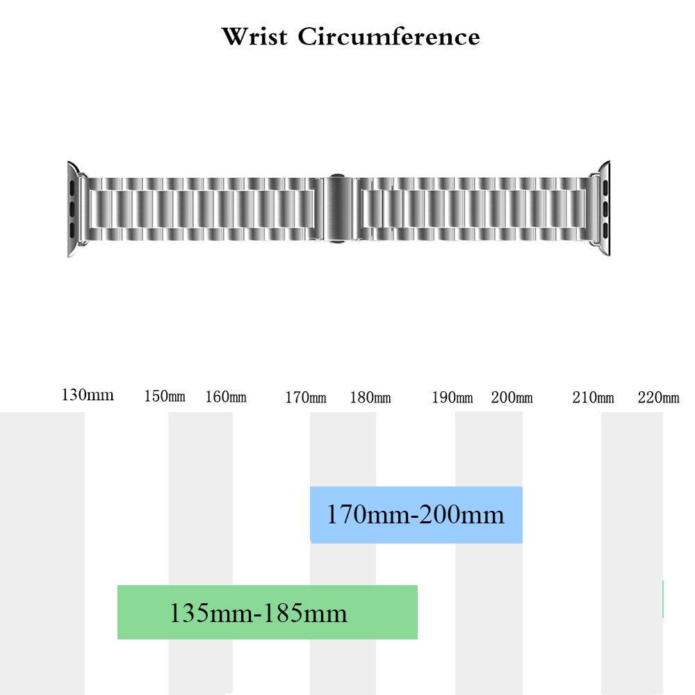 Curea din oțel inoxidabil pentru ceas Apple 42mm 38mm 4 3 2 1 - Accesorii ceasuri - Fotografie 5