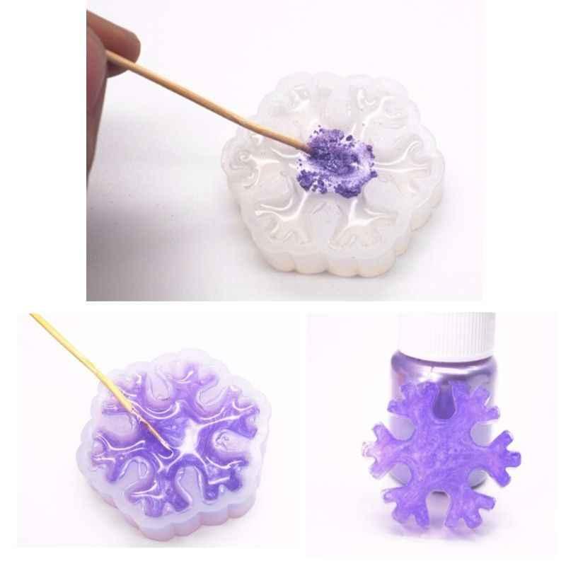 Polvo de pigmento de Mica perlado Arco Iris resina UV epoxi artesanía DIY fabricación de joyas