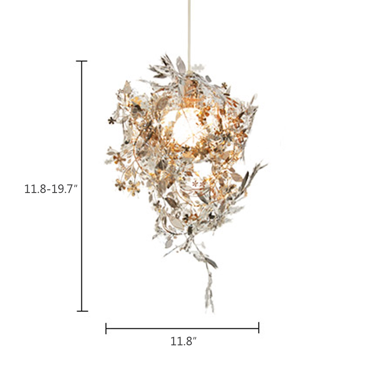 Modern Unique Chandelier Simple Leaves DIY Gold Chrome 40W Shadeless Light Dining Room Loft Bedroom Lighting Decor In Chandeliers From Lights