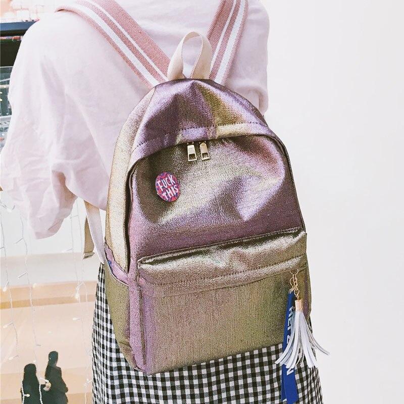Gradient Color Female Models Shoulders Korean Students Harajuku Fresh Retro Mori Girl Backpack