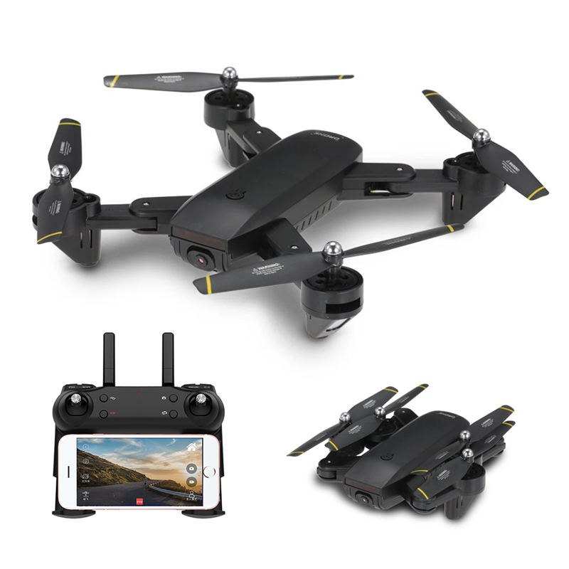 DM DM107 WIFI FPV With Dual 2MP Camera Optical Flow Altitude Hold Mode Foldable RC Drone Quadcopter Selfie Drone VS Eachine E58 dm dm106 wifi fpv with 2mp 0 3mp camera altitude hold rc drone quadcopter rtf mode 2 with transmitter phone control with led toy