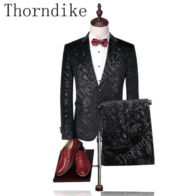 Thorndike personalizado padrinos de fondo negro de plata de esmoquin de  novio gruesa de invierno para 7de80c445ed