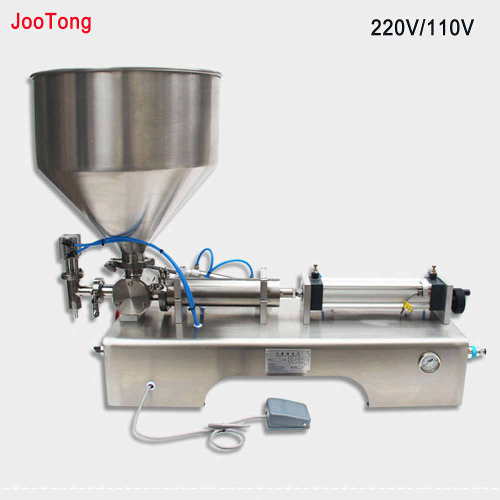 Quantitative Viscous Food Paste Cream Filling Equipment Bottle Liquids Water Dosing Colloid Honey Filling Machine 220V/110V