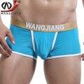 Transparente homem sexy boxer 2016 wj marca ice silk dos homens cintura baixa sexy shorts men underwear boxers pênis