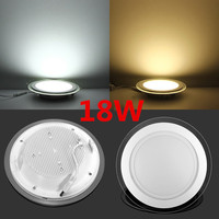 Dimmable LED Panel Downlight 6W 12W 18W Round Glass Ceiling Recessed Lights SMD 5730 Warm Cold