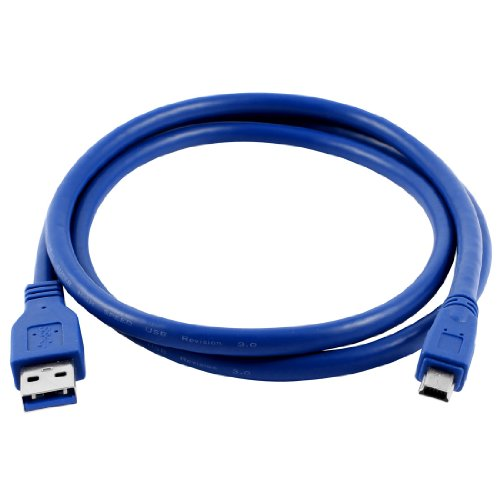 2015 Hot 1 Meter New Blue Superspeed USB 3.0 Type A Male to Mini B 10 Pin Male Adapter Cable Cord