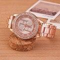 Watches Women Luxury Brand Casual Dress Quartz Gold Watch Fashion Stainless Steel Crystal Ladies Wristwatches Relogio Feminino