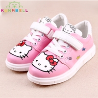 Girls Spring Sneakers Children Cartoon Hello Kitty Shoes Kids Rubber Chaussure Enfant Flats Shoes Toddlers Lovely