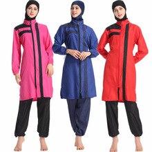 2019 Womens Muslim Pauls swimwear trousers hooded three-piece temperament elegant fashion Islam beachwear  swimsuit