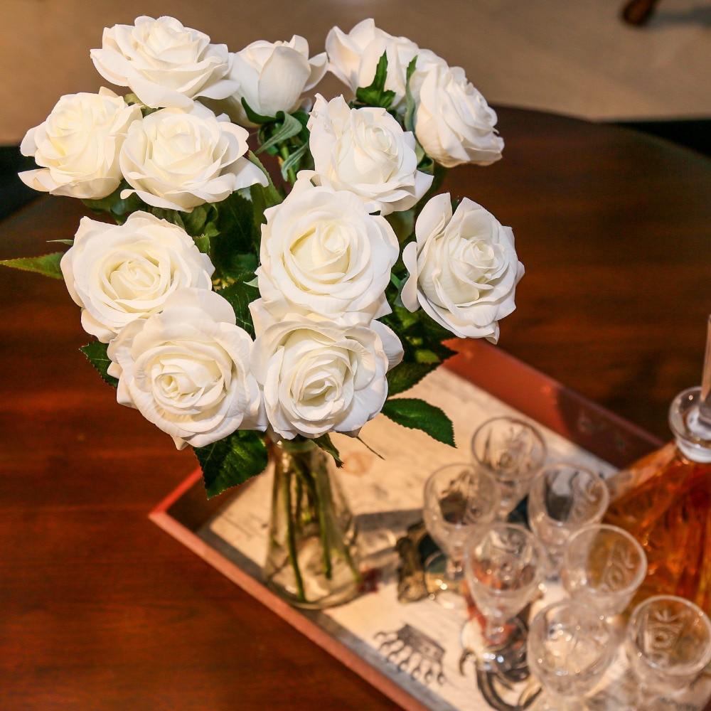 Aliexpress Buy 10pcsset Decor Rose Artificial Flowers Silk