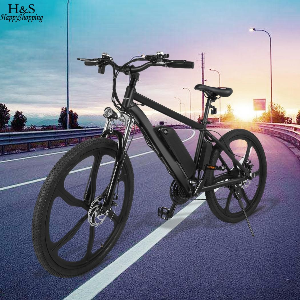 Ancheer 26 inch Electric Power Bike Bicycle 21 Speed 36V 8A Lithium Battery E-bike new 48v 500w samsung lithium battery electric bicycle 10an large capacity 27 speed shimano 26 x4 0 electric snow bike