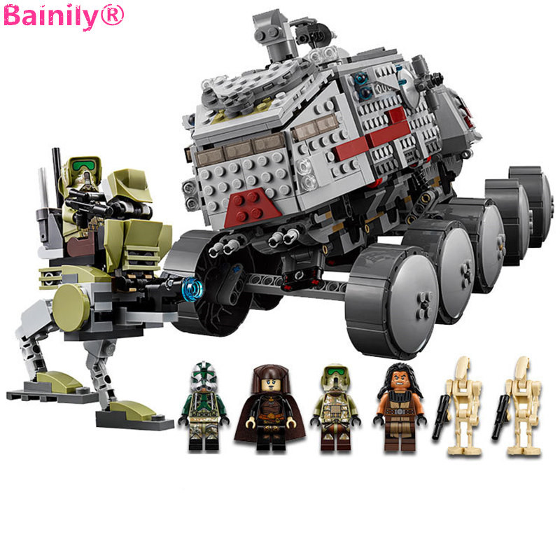 933Pcs Star Wars Clone Turbo Tank Building Blocks Compatible With LegoINGly Starwars Educational Boys Toys Gift For Children [jkela]499pcs new star wars at dp building blocks toys gift rebels animated tv series compatible with legoingly starwars page 1