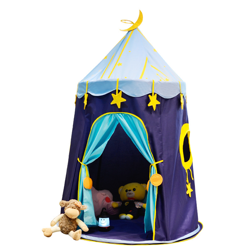 Childrens Tent Blue Star Room Game House Baby Toy Game Castle Princess Tent Teepee Playhouse for Kids Folding PlaytentChildrens Tent Blue Star Room Game House Baby Toy Game Castle Princess Tent Teepee Playhouse for Kids Folding Playtent