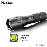 Ultra Bright 5 Mode CREE XML T6 3800LM Zoomable Led Flashlight Waterproof Torch Lights Bike Light Free Shipping
