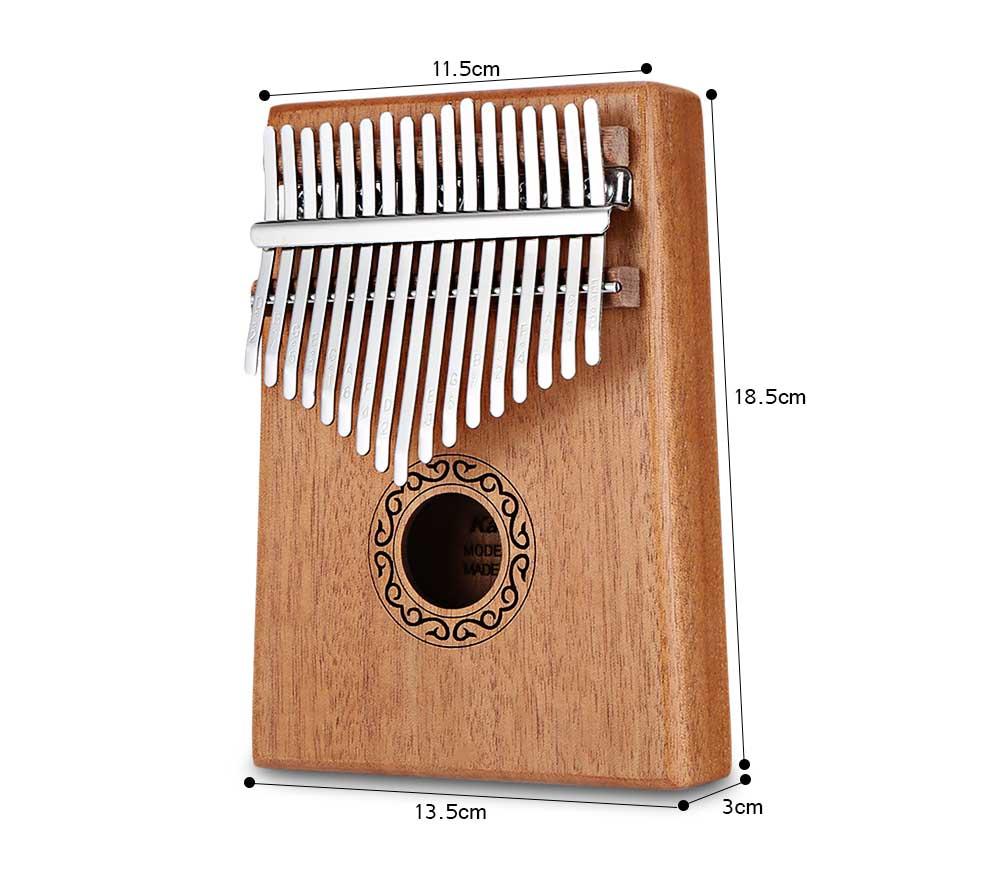 Wood organ 17 Keys Kalimba Thumb Piano High-Quality Mahogany Body Musical Instrument With Learning Book Tune Hammer