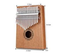 Wood organ 17 Keys Kalimba Thumb Piano High-Quality Wood Mahogany Body Musical Instrument With Learning Book Tune Hammer цена