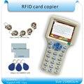 Inglês versão 10 estilos Cartão RFID Read-Escritor/RFID Copiadora/Programador cópia criptografada para Setor 0 + 30 pcs Regravável KeyFob