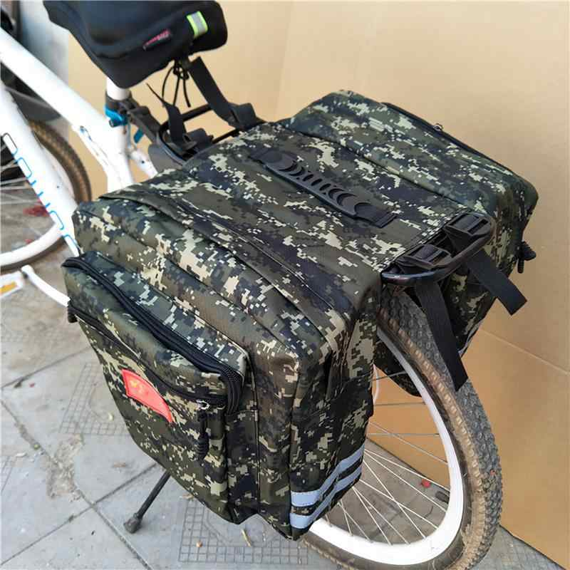 Mountain Road Fiets 2 In 1 Camo Kofferbak Zakken Fietsen Double Side Rear Rack Tail Seat Fietstas Pack Bagage carrier