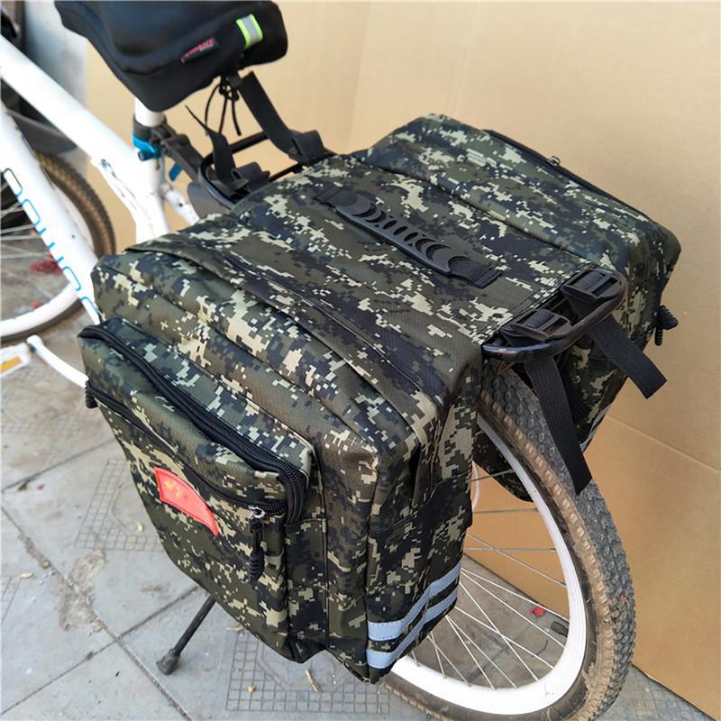 Vélo de route de montagne vélo 2 en 1 sacs de coffre de camouflage cyclisme Double face arrière support siège arrière sac à bagages