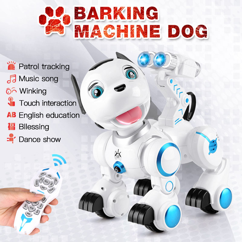 2.4G Wireless Remote Control Smart Dog Electronic Pet Educational Children's Toy Dancing Robot Dog interaction birthday gifts 2 4g wireless remote control smart dog electronic pet educational children s toy dancing robot dog without box birthday gift k10
