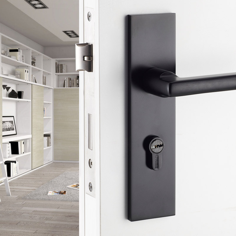 room door handle locks lock william siamese quiet simple wood bedroom