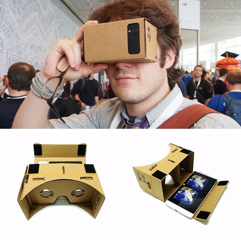 Виртуальной реальности 3D Очки Google cardboard Очки VR коробка Фильмы для Iphone 5 6 7 Huawei Samsung смартфоны Xiaomi VR гарнитура