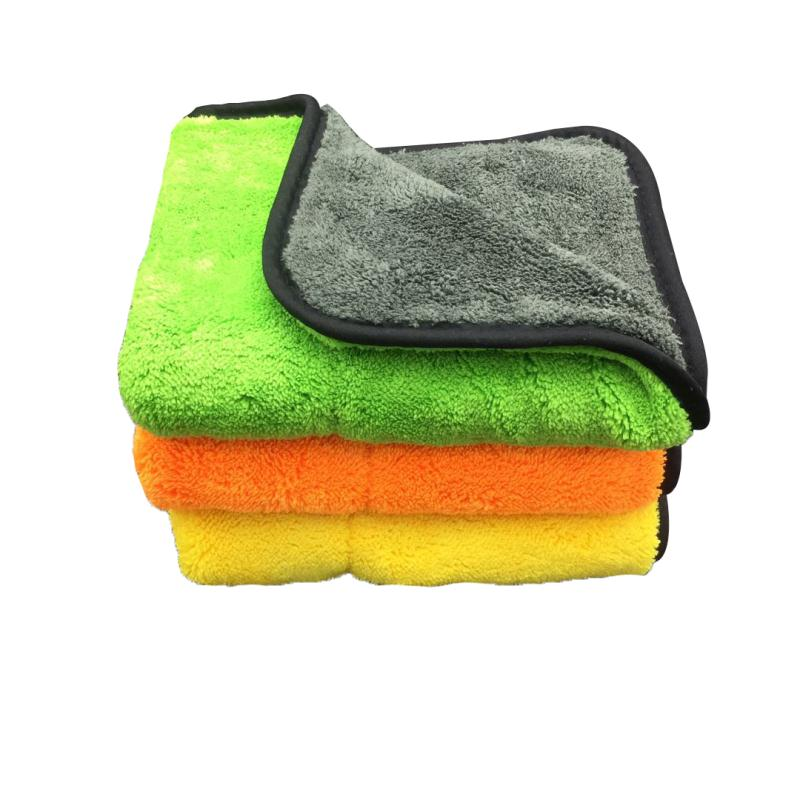 3PCS Thicken Soft Microfiber Towel Car Cleaning Wash Clean
