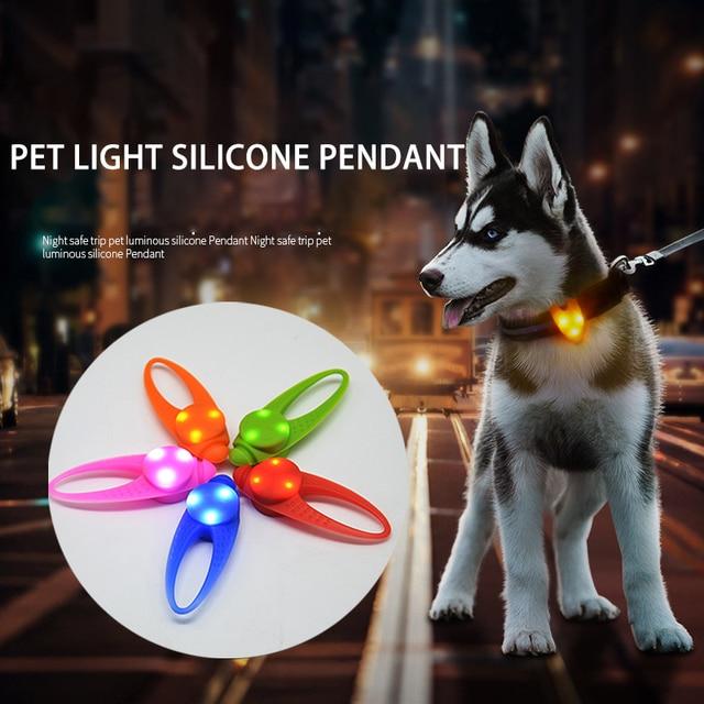 Pet Dog Led Light Pendant Night Walking Safety Dog Cat Collar Charm Puppy Kitten Necklace Glowing Flashing Light Pet Supplies
