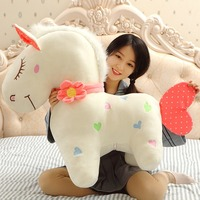 New Arrival Lovely Horse Plush Toy Giant Stuffed Animal Baby Riding Horse Toys Kids Birthday Gift