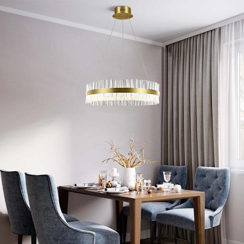 Modern living room chandelier crystal fixtures hotel hanging lights dining  room pendant lamps bedroom LED suspended lighting