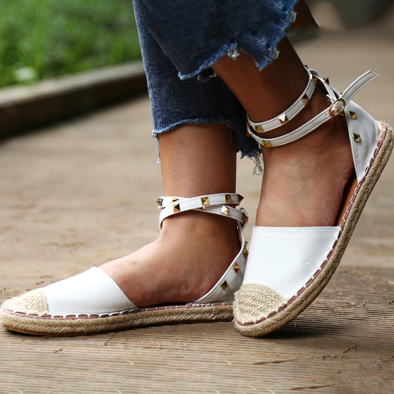 Honey Womens Sandals In Summer Solid Color Girl Hollow With Sandals Lady Sandals Flat Casual Platform Breathable Chaussures Femme Convenience Goods Low Heels