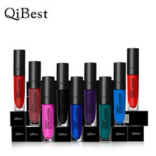 1pcs Qibest Multi Colors Lipstick Vampire Grape Purple Dark Black Lipstick Vampire Style Matte Lipstick Comestic tool lipgloss