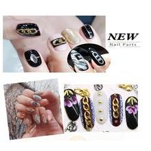 10pcs/Nail Art Chain Ornaments 2- 3 Buckle Ring Zipper Nail Decoration 3D Accessories