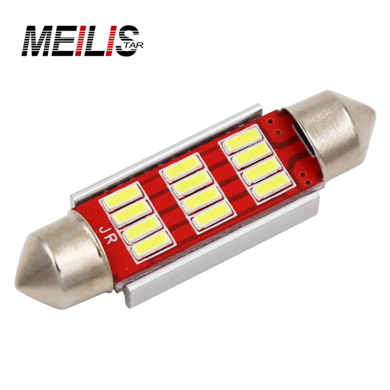 Festoon 31mm 36mm 39mm 41mm LED Bulb C5W C10W CANBUS NO ERROR 12 SMD 4014 LED Interior Dome Lights Map Reading Lamp White DC12V high quality 31mm 36mm 39mm 42mm c5w c10w super bright 3030smd car led festoon light canbus error free interior doom lamp bulb