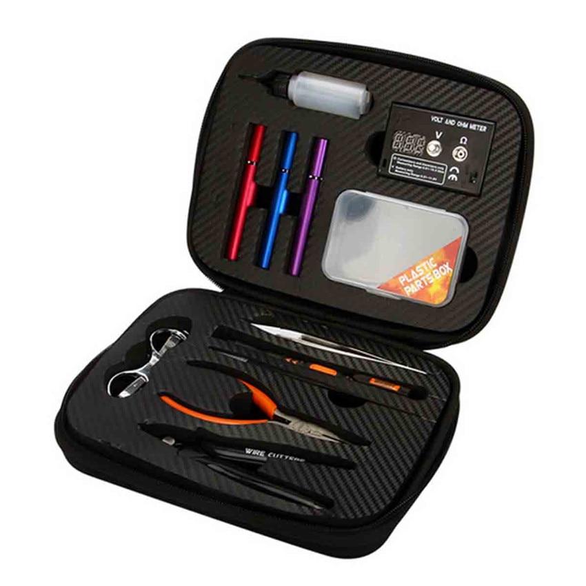 Update Atomizer Tester Sets DIY Kit All-In-One Needle-Nose Pliers+ Electronic Cigarette Ceramic Tweezers Tool Bag Vape vaper