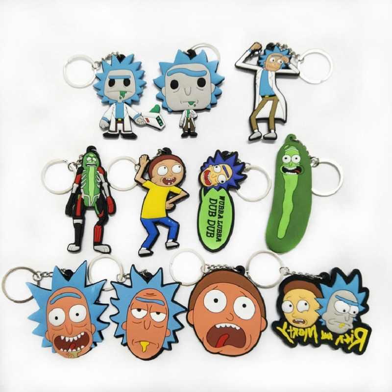 Rick e Morty Pickle mulher Maravilha Deadpool Figura Brinquedos Bonecas Potter Dobby PVC Keychain Naruto Pingentes Juguetes brinquedos Vegeta