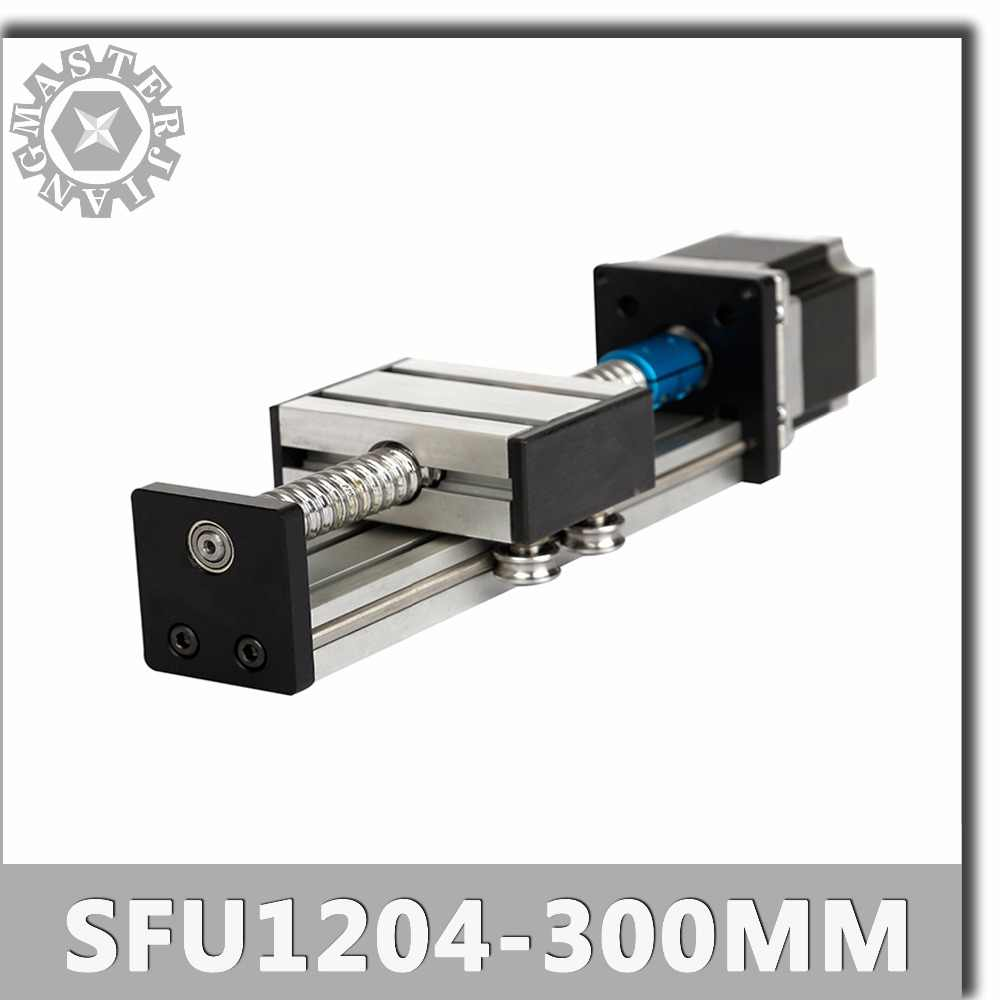 Stage C SFU1204-300mm Linear Guide Rails Linear Actuator System Module Table Ball Screw 300mm Travel Length CNC Guide SFU1204