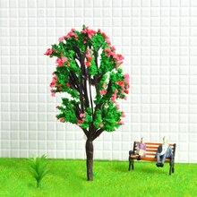 50pcs Model Flower Tree Sand Table Building Scene Finished Diy Making Material Landscape