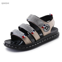 Brand Genuine Leather Children Shoes Sandals Summer Boys Cow Leather Beach Shoes Fashion Sport Sandal EU