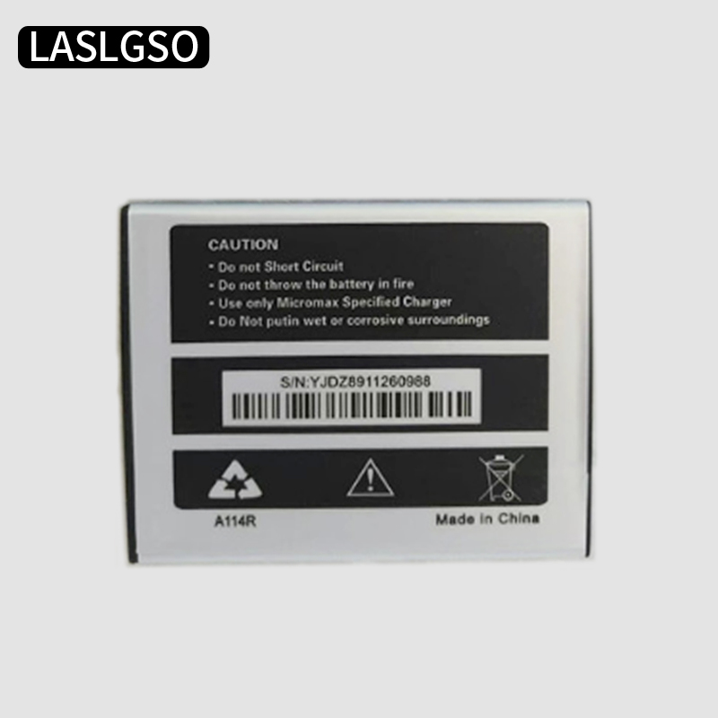 10pcs lot Good Quality 3 7V 2500mah Replacement Mobile Phone Battery Batteries For Micromax A114R Accumulator