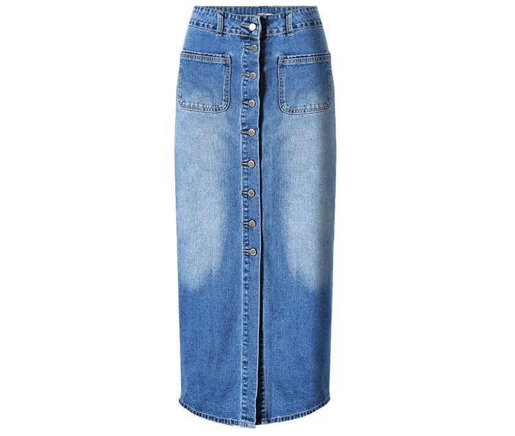 Popular Long Denim Skirts for Women-Buy Cheap Long Denim Skirts ...