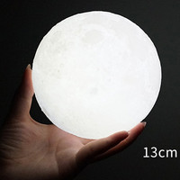 3D Magical Moon LED Party Light Moonlight Desk Lamp USB Rechargeable 8cm 10cm 13cm 15cm 18cm