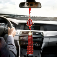Car Pendants Red Agate Hanging Decoration Automobiles Interior Rearview Mirror Suspension Ornaments Home Decor Accessories Gifts