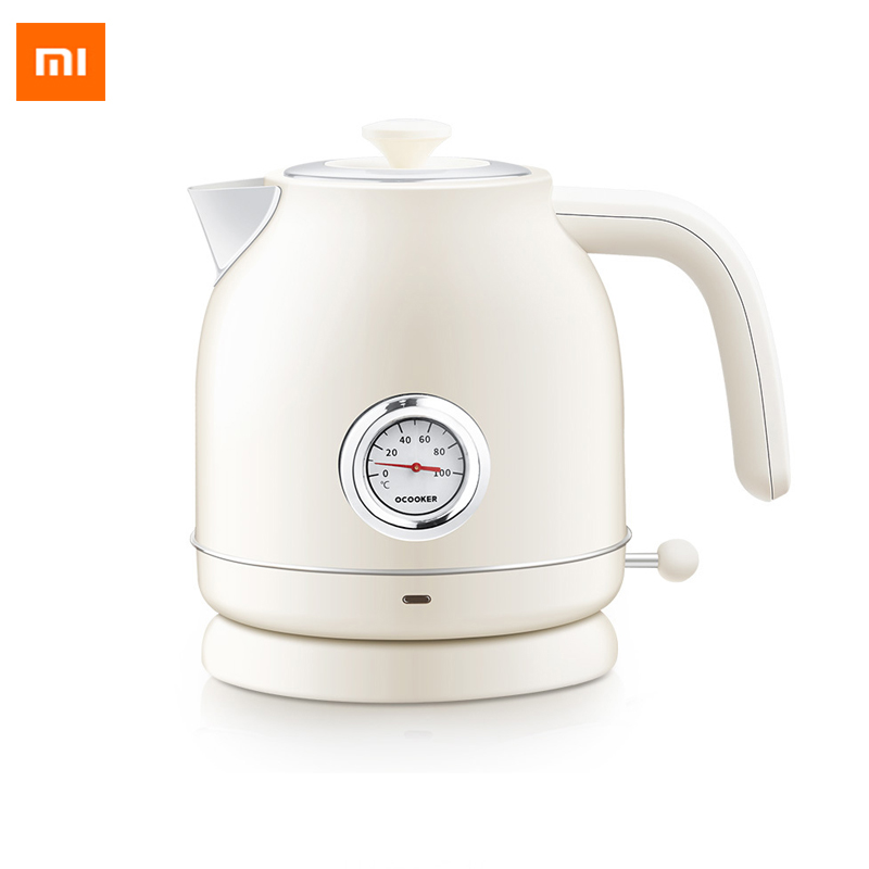 New Original Xiaomi OCOOKER electric kettle Import temperature control 1.7L large capacity with watch electric kettle чайник xiaomi qcooker electric kettle