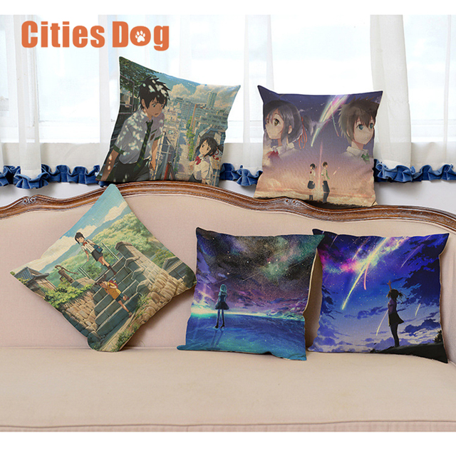 japanese cartoon movie decorative pillows cushion your name christmas decorations for home pillow cushions decor cojines