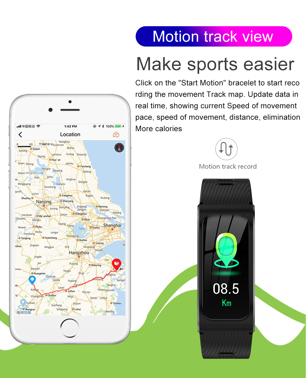 """Smartwatch 1,14"""" IP68 impermeable Android IOS 9"""