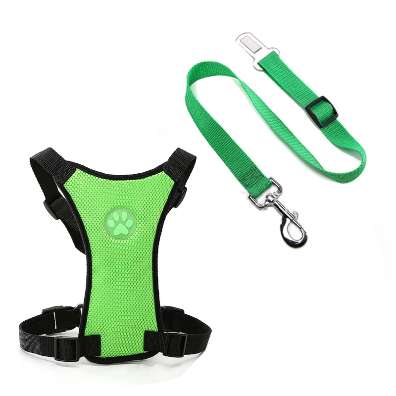Breathable Mesh Dog Harness Leash With Adjustable Straps